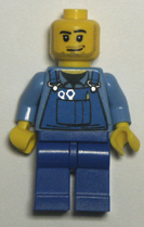 blue bodied Lego minifigures.