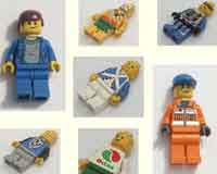 Lego minifigure sales, all themes, all colours