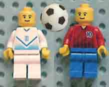 football, sport, minifigure, footballer, football, net, green, base, pitch.