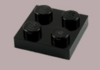 Lego, black, plates, flats, buy, find, pegs, knobs, thin, square, rectangle, chamfered.