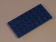 Lego, blue, plates, flats, buy, find, pegs, knobs, thin, square, rectangle, chamfered.