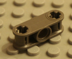 Dark old grey Technic Lego part.