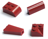 Dark red Lego bricks page image, huge range of dark red bricks to choose from