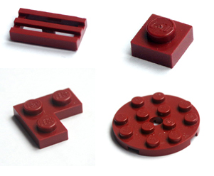 Dark Red Lego flats / plates link picture