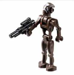 Commando, droid, captain, with, gun, brown.