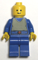 blue bodied ;ego minifigure.