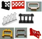 Lego, fence, gate, roll bar, railing, gate, wicket, panel.