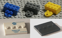 Lego fridge magnets, mounts and bases.