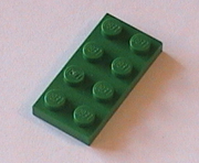Lego, green, plates, flats, buy, find, pegs, knobs, thin, square, rectangle, chamfered.