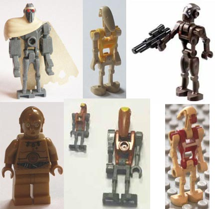 Lego, Star Wars, droids, Battle, Jedi, war, commando, C3-PO, BB-8, G2, Scorpenek.