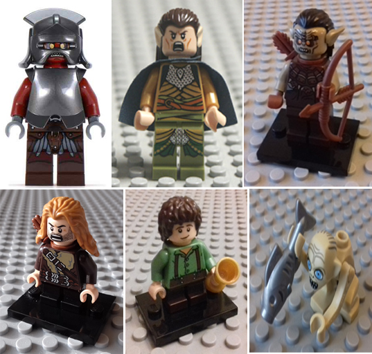 LEGO, lord, of, the, rings, parts, accessories, minifigures