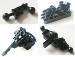 Lego, bionicle, individual parts, replacement spares, components, black bionicle.