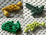 Lego, bionicle, individual parts, replacement spares, components, GREEN, LIME GREEN, DARK GREEN, YELLOW, DARK YELLOW PARTS.