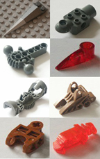 Lego, bionicle, individual parts, replacement spares, components, GREY, DARK OLD GREY, DARK STONE GREY, LIGHT OLD GREY, MEDIUM STONE GREY, CURRY, DARK TAN.