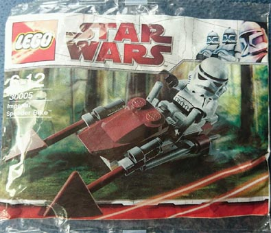 star wars polybag set, 30005, unopened, new