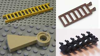 stairs, ladders, Lego, parts