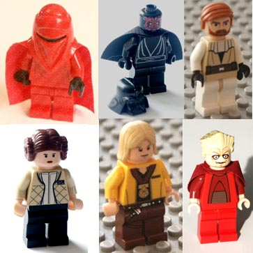 Star Wars, minifigures, genuine Lego.