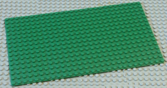 28 x 16 Green Lego base board plate.